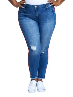 Product Image Women s Plus Size Mid Rise Ankle Skinny with Red Piping 35026e3ec