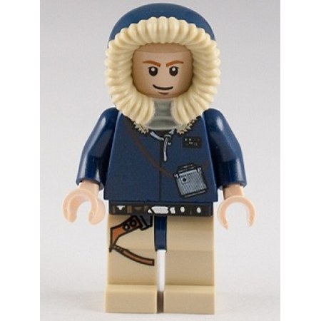 LEGO Star Wars Han Solo, Tan Legs with Holster Pattern, Parka Hood (7879) Minifigure - Leg Wars