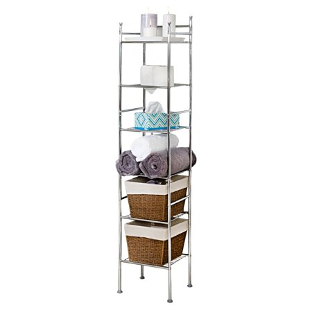Honey-Can-Do 6-Tier Bathroom Storage Shelving Unit, Chrome