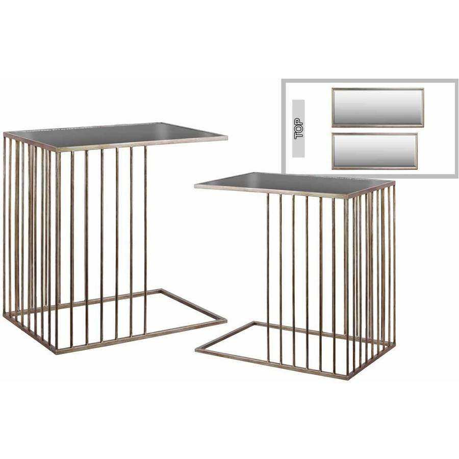 Urban Trends Collection: Metal Mirror, Metallic Finish, Champagne