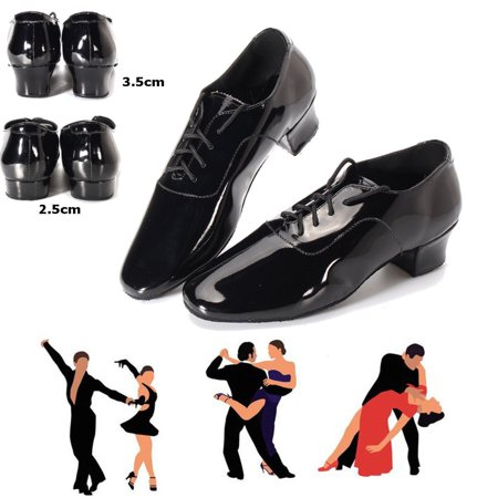 Adult Men Ballroom Latin Salsa Tango Dance Shoes Black Color 2.5cm / 3.5cm Heel