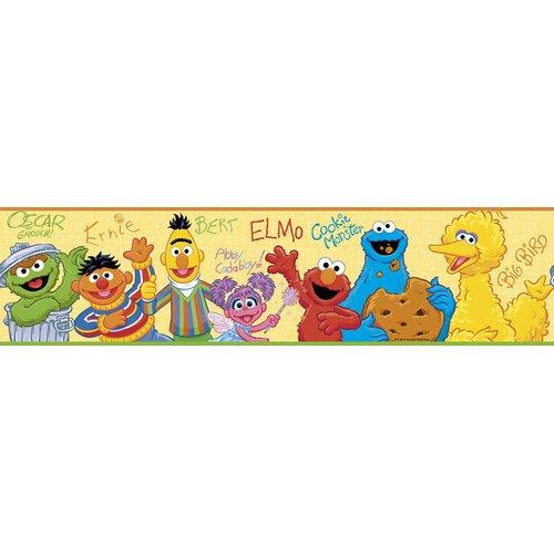 Wallhogs Sesame Street Room Border Wall Mural