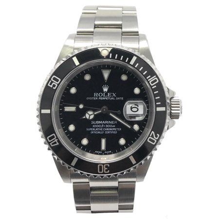 Rolex Submariner 16610 Black Luminous dial and a Stainless Steel Unidirectional Bezel (Certified
