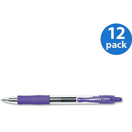 Pilot G2 Extra Fine Gel Ink Pen, 0.5mm - Purple Ink ( 12 Per Set)