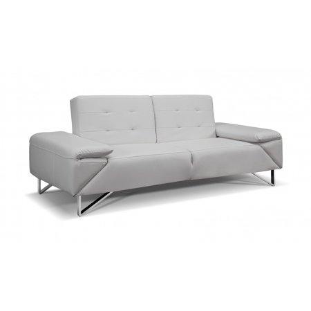 london sofa bed white faux leather chrome legs. Black Bedroom Furniture Sets. Home Design Ideas