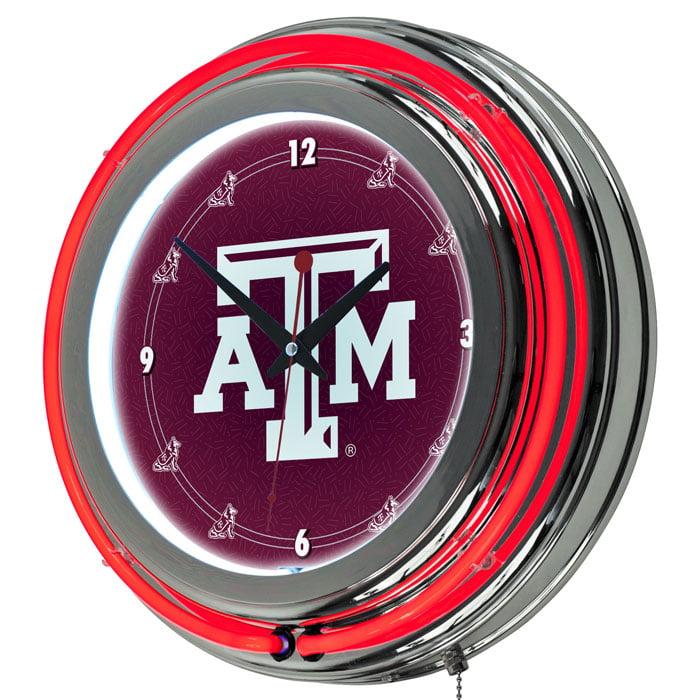 "NCAA Texas A&M University 14"" Neon Wall Clock"