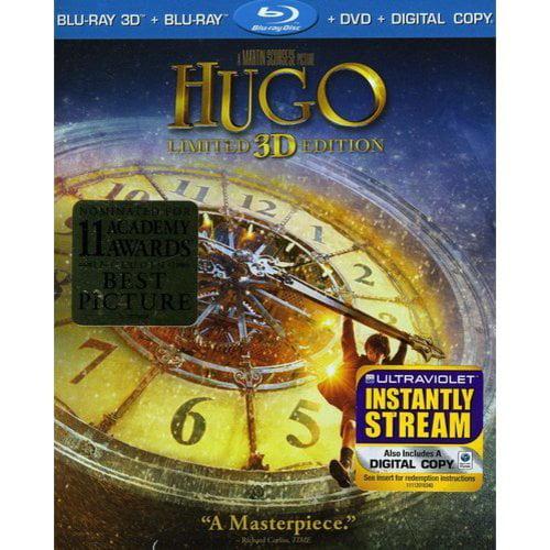 Hugo 3D (3D Blu-ray + Blu-ray 2D + DVD) (With INSTAWATCH) (Widescreen)