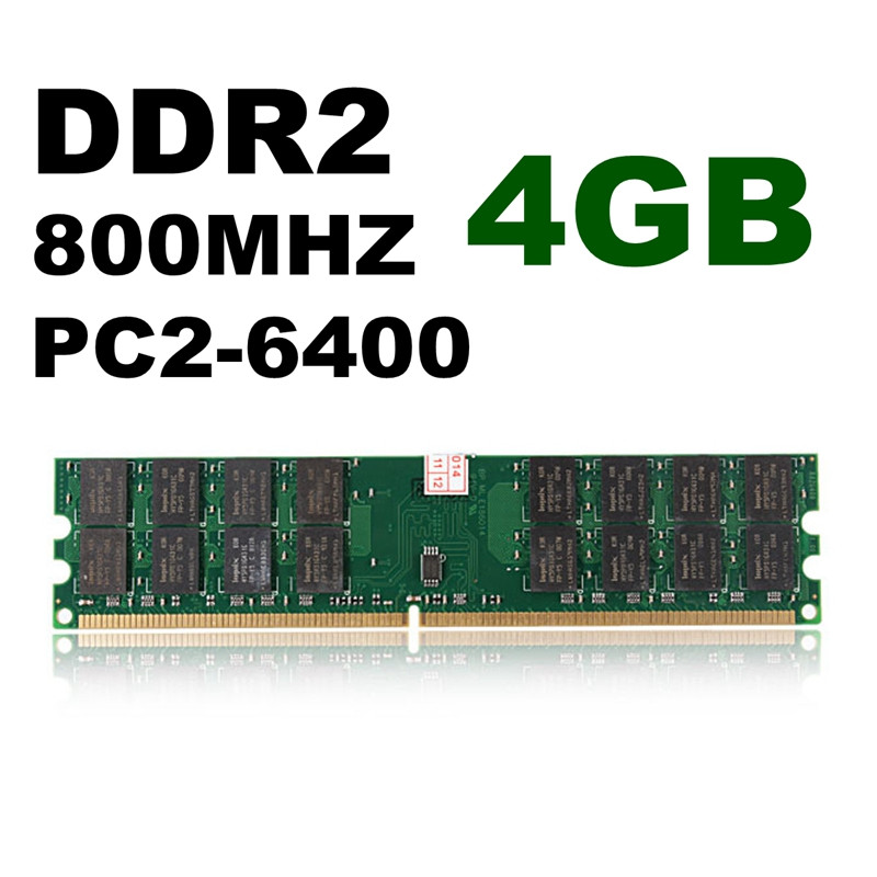 1 Stick for Samsung 4gb pc2-6400 ddr2 800mhz 240pin High Density Desktop AMD Ram is