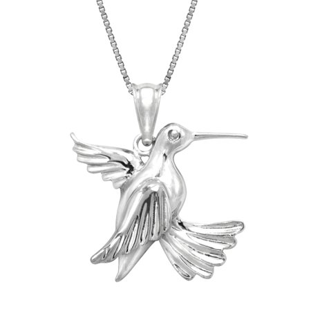 gold pendant necklace hummingbird white