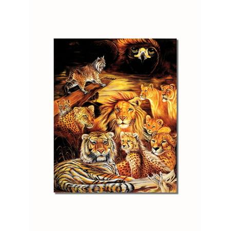 (Big Cat Collage Tiger Lion Cheetah Leopard Lynx Wall Picture 8x10 Art Print)