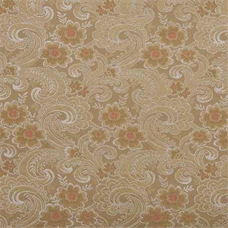 Designer Fabrics D121 54 in. Wide Gold, White And Red, Paisley Floral Brocade Upholstery Fabric](Red Brocade)