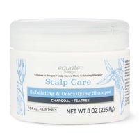 Equate Scalp Care Exfoliating & Detoxifying Shampoo, Charcoal & Tea Tree,Compare to Briogeo 8 fl oz