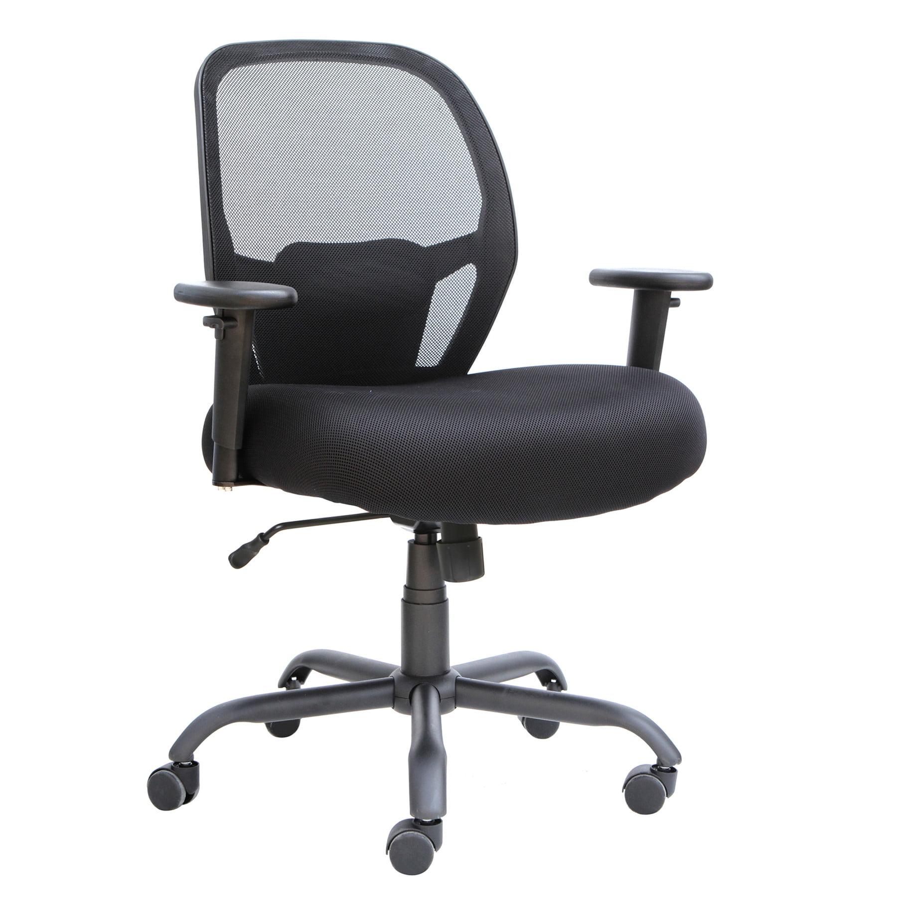 Alera Alera Merix Series Mesh Big/Tall Mid-Back Swivel/Tilt Chair, Black