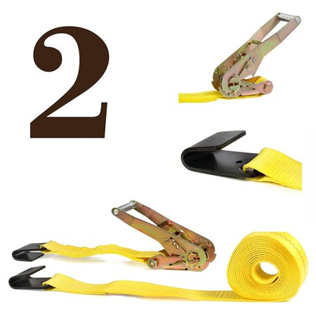 TWO Ratchet Strap Cargo Tie-Downs, 2