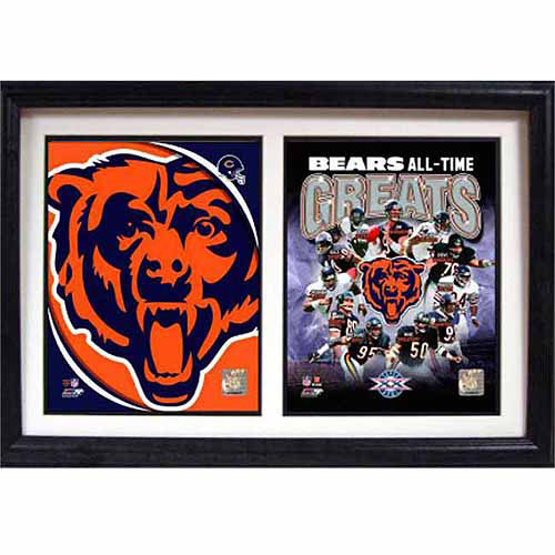 NFL Chicago Bears Greats 12x18 Double Frame