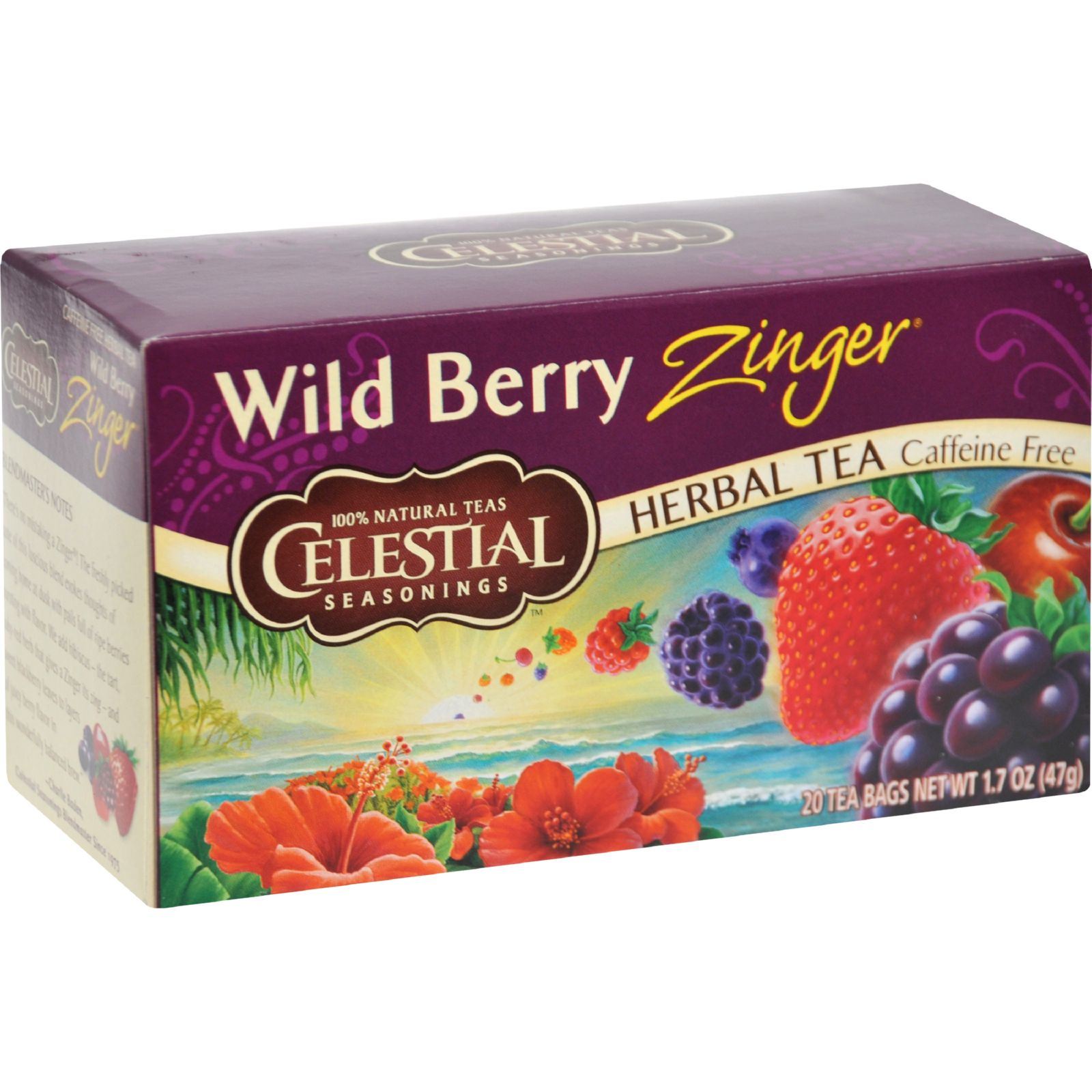 Celestial Seasonings Herb Tea Wild Berry Zinger - 20 Tea Bags - (Case of 6)
