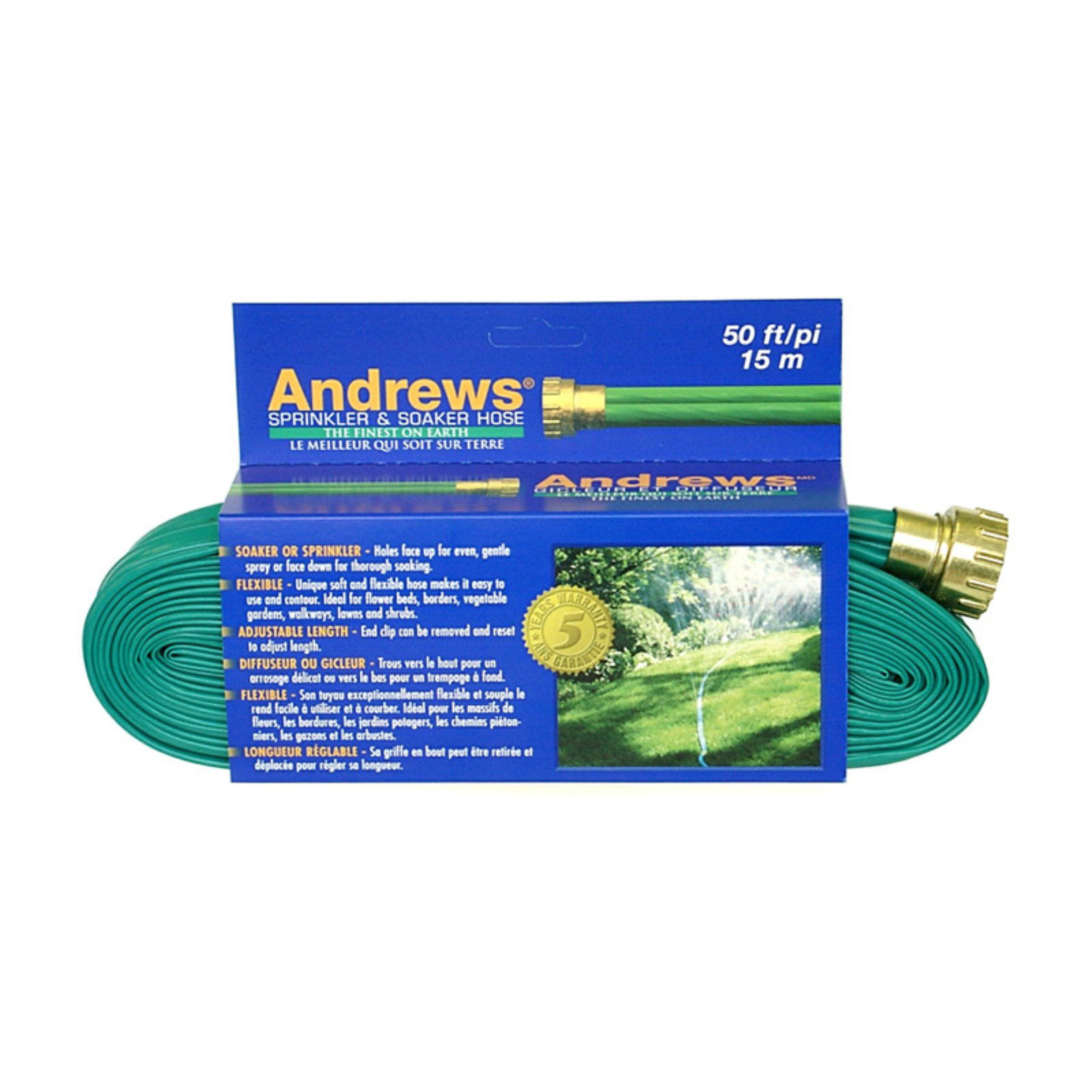 Andrews 10-12349 100' 2 Tube Sprinkler & Soaker Hose by A.M. Andrews