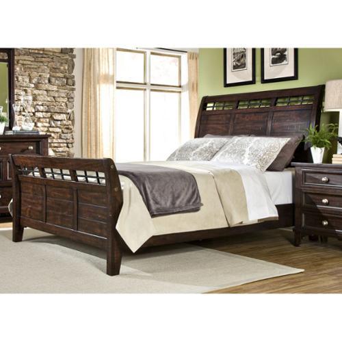 Hayden Solid Pine Sleigh Bed Hayden Solid Pine Queen Sleighbed by Overstock