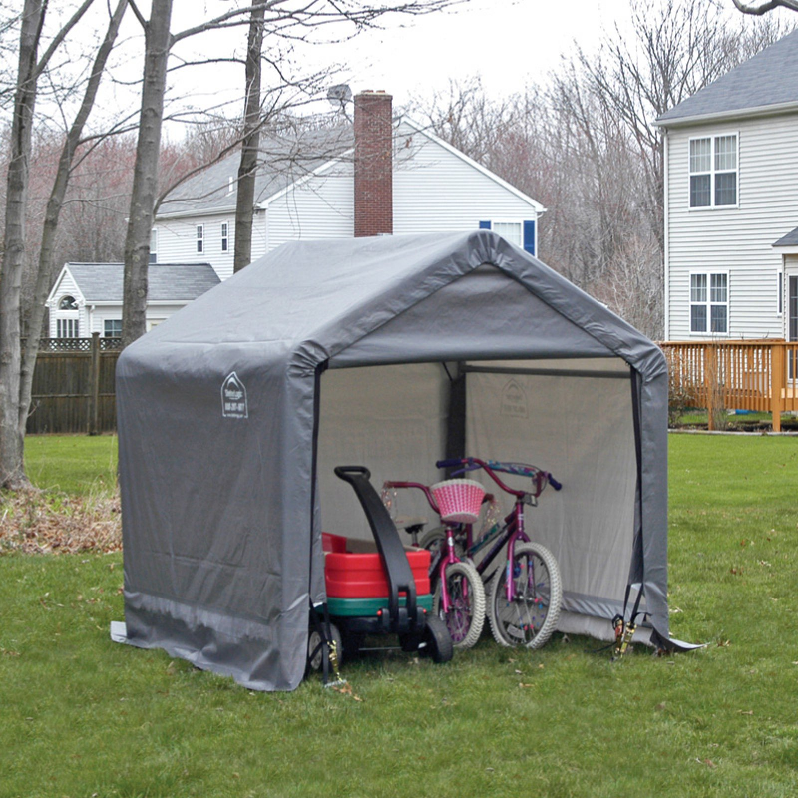 Shed-in-a-Box 6' x 6' x 6' Peak Style Storage Shed, Gray by ShelterLogic