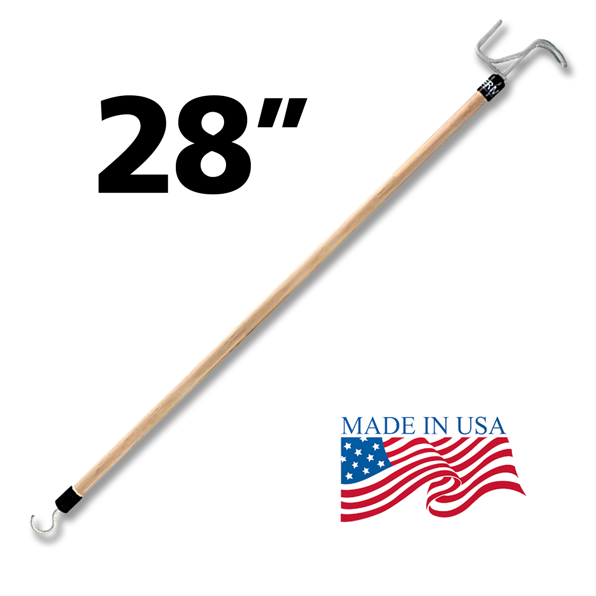RMS Dressing Stick, Dressing Aid Tool with Zipper Puller and Sock or Stocking Remover, Made in USA, Limited Lifetime Warranty