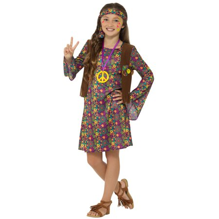 Hippie Girl Child Costume - Medium - Childs Hippie Costume