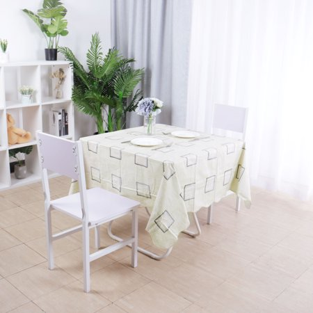 Square Tablecloths Plaid Pattern PVC Table Cover Indoor Outdoor Tabletop Cloth 60