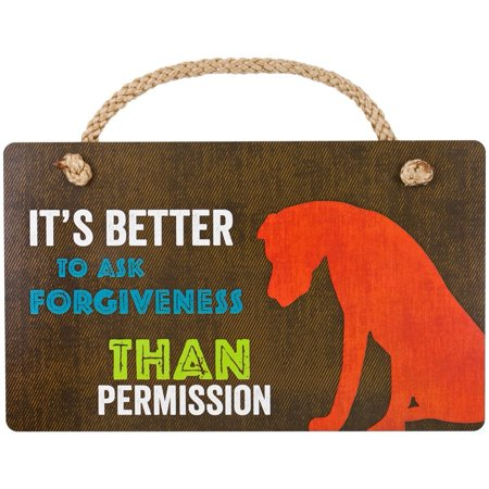 - Great Dane Better To Ask For Forgiveness Wall Plaque, Home Decor Item By Highland Graphics - Steampunk Items For Sale