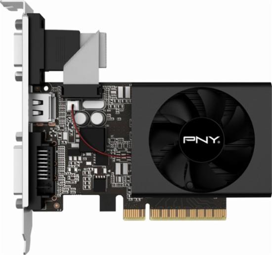 PNY - NVIDIA GeForce GT 730 2GB DDR3 PCI Express 2.0 Graphics Card - Black
