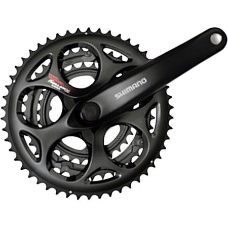 Shimano Tourney A073 7/8-Speed 170mm 30/39/50t Square Crankset, Black