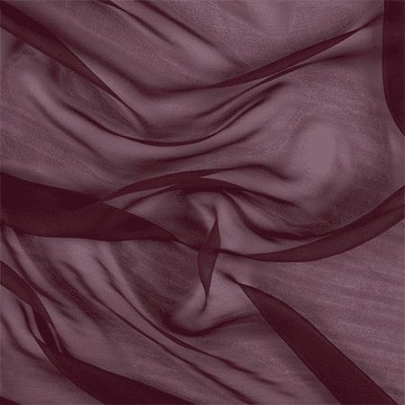 Burgundy Wide Silk Chiffon, Fabric By the Yard
