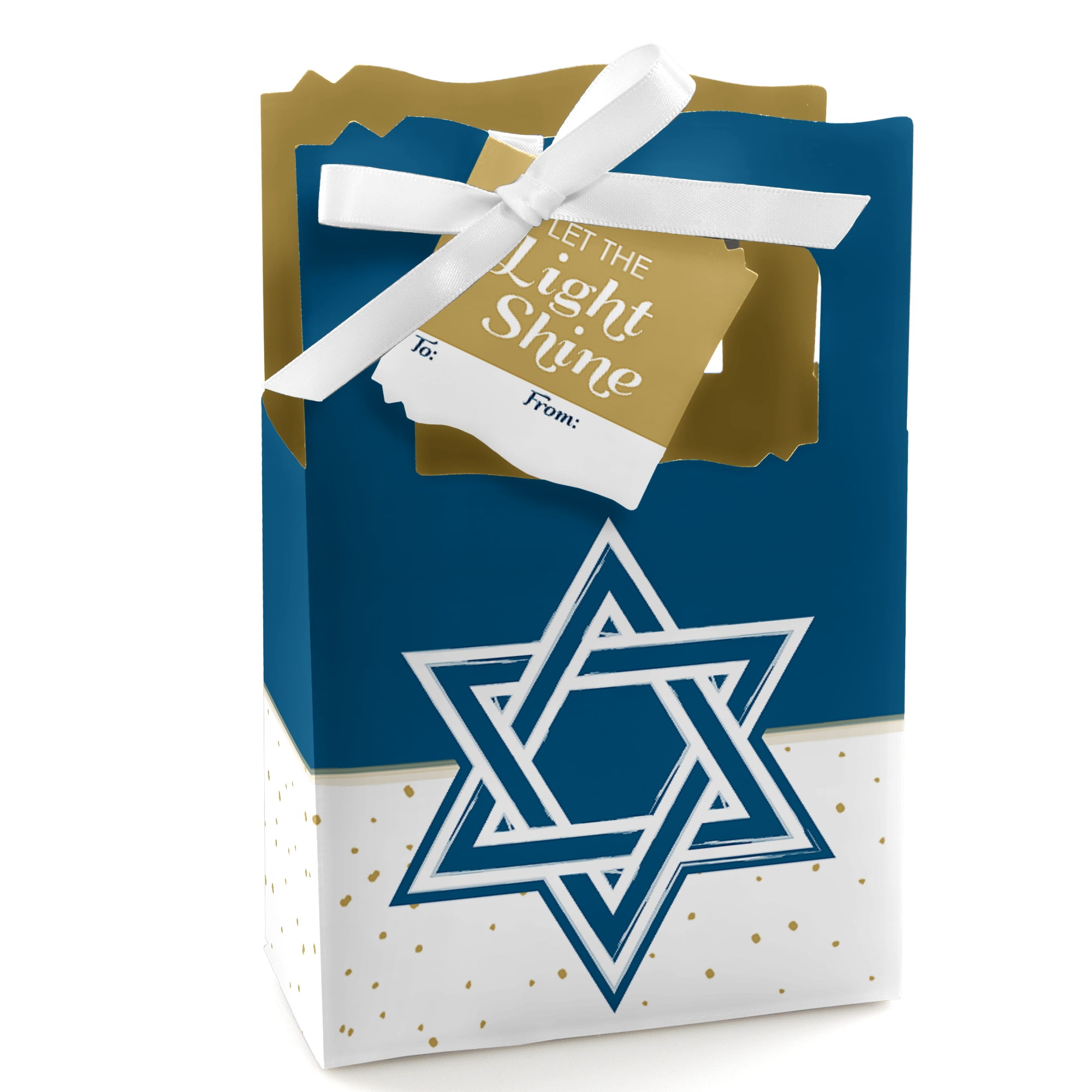 Happy Hanukkah - Hanukkah Party Gift Bag - 12 Count