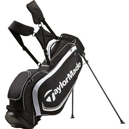 Taylormade Golf Bag >> Taylormade Golf 2017 4 0 Stand Bag Mens Black White 4 Way Top 6 Pockets