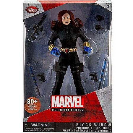 Marvel Ultimate Series Black Widow Premium Action Figure (Avenger Black Widow)