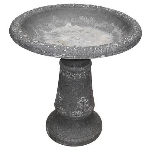 Arcadia Garden Products Stone Fiber Clay Bird Bath