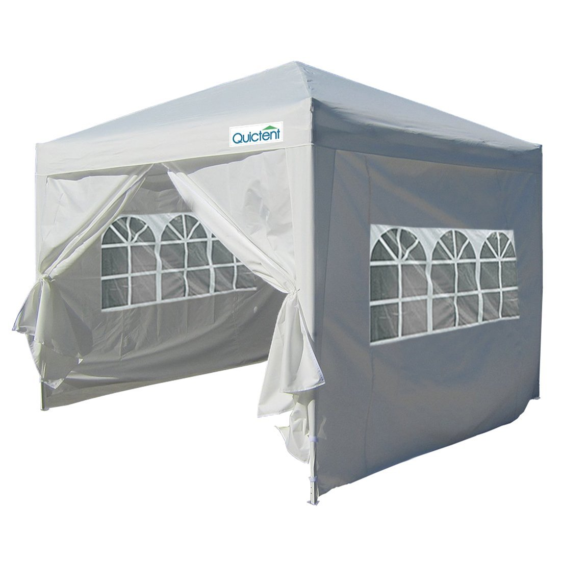 Quictent Silvox Waterproof 10x10' EZ Pop Up Canopy Commercial Gazebo Party Tent White Portable Style Removable Sides... by