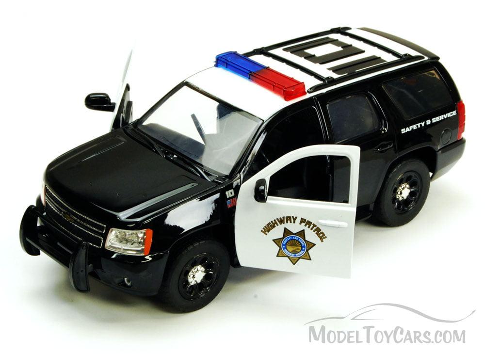 Chevy Tahoe Highway Patrol Suv Black White Jada Toys Hero Patrol 96295hp 1 24 Scale Diecast Model Toy Car Brand New But Not In Box Walmart Com Walmart Com