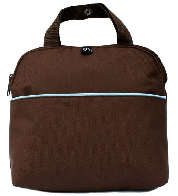 JL Childress MaxiCOOL 4-Bottle Cooler Bag - Cocoa/Blue