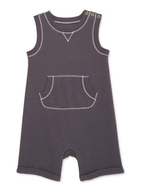 Wonder Nation Baby Boy Charcoal Romper