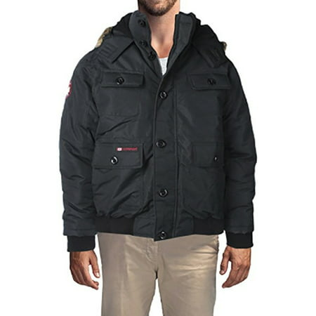 Men's Heavy Weight Faux Goose Down Jacket Coat