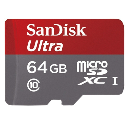 Sandisk Ultra 64GB MicroSD Memory Card Micro-SDXC High Speed Class 10 Compatible With Motorola DROID RAZR MAXX HD M - Samsung Galaxy S4 Active (GT-i9295), J3 V, Core Prime - ZTE Warp Sync