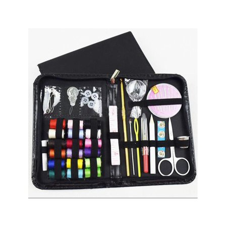 Meigar Mini Sewing Kit for Travel, Emergency, Sewing Supplies with Scissors, Thimble, Thread, Needles, Tape Measure, Carrying Case and Accessories