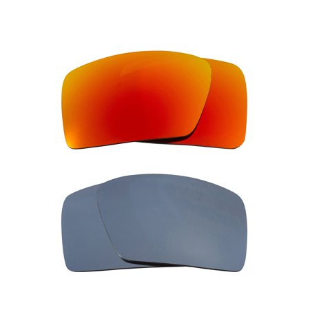 dcc84306e3 Eyepatch 2 Replacement Lenses Polarized Silver   Yellow by SEEK fits OAKLEY