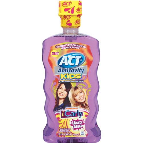 ACT Anticavity Kids Alcohol-Free iBerry Blast Fluoride Rinse, 16.9 oz