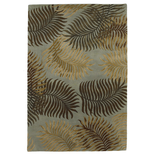 KAS Rugs Havana Fern View Aqua Plants Area Rug