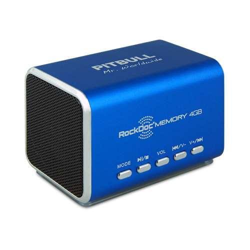 VisionTek RockDoc PITBULL Boom Speaker and MP3 Player - 4GB Internal Storage; Mi