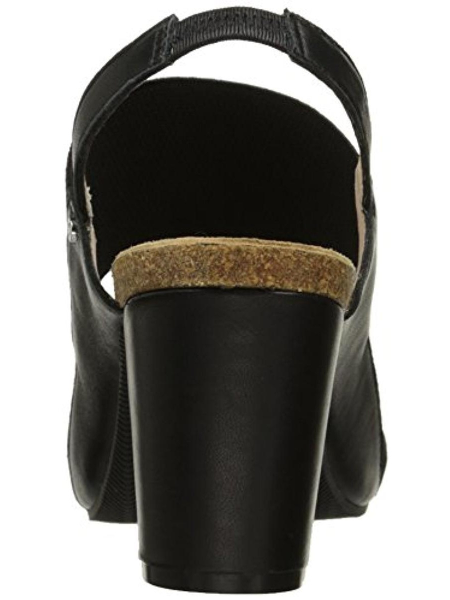 Sudini Womens Caden Leather Slingback Dress Sandals