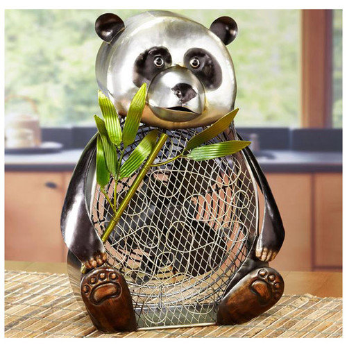 Deco Breeze Panda Bear Figurine Table Top Fan