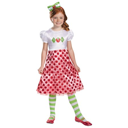 Morris Costumes Girls Strawberry Shortcake Class Striped Costume 3T-4T, Style DG84471M (Girls Strawberry Shortcake Costume)