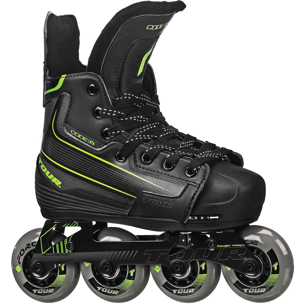 TOUR HOCKEY CODE 9 YOUTH ADJUSTABLE INLINE HOCKEY SKATE MED 1-4 by Tour