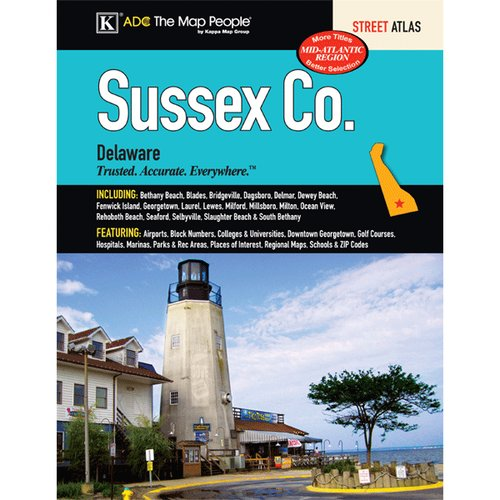 Universal Map Sussex County Delaware Atlas